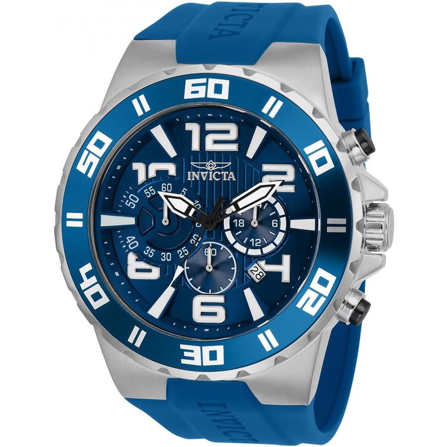 Invicta Pro Diver Chronograph Blue Dial Mens Watch 24669