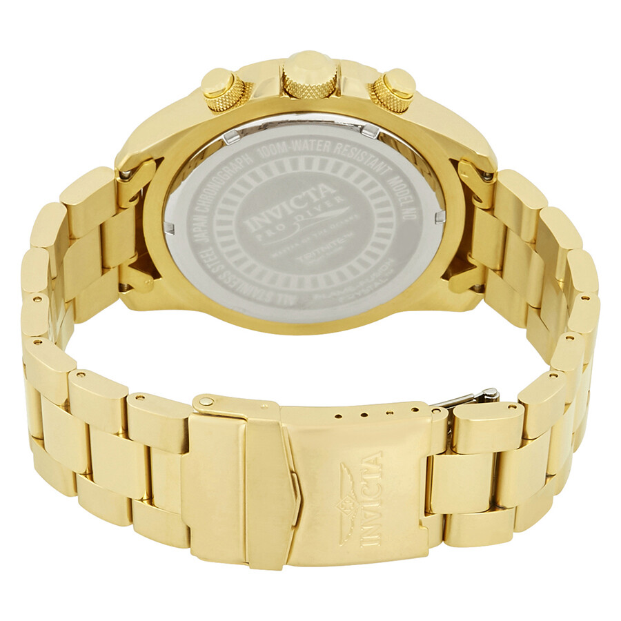 ... Invicta Pro Diver Chronograph Gold Dial Men's Watch 22720