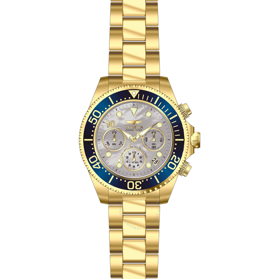 Invicta Pro Diver Chronograph Mother of Pearl Dial Mens Watch 22040
