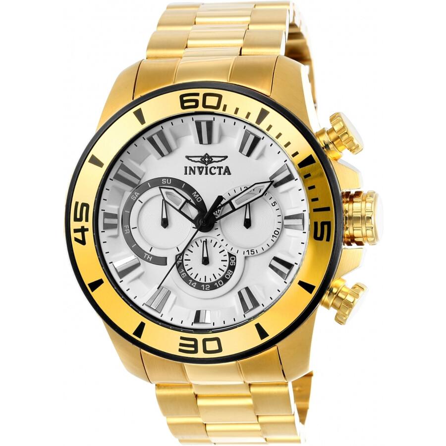 Invicta Pro Diver Chronograph White Dial Mens Watch 22589