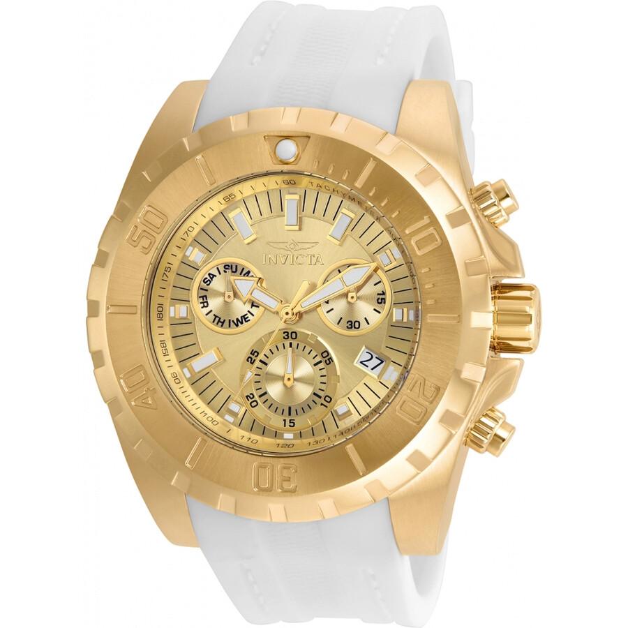 Invicta Pro Diver Gold Chronograph Mens Watch 24927