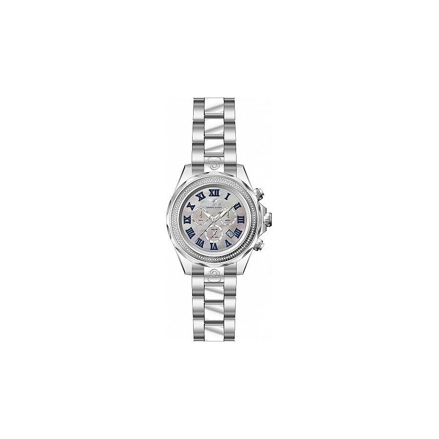 Invicta Pro Diver Grand Chronograph Platinum Dial Mens Watch 21712