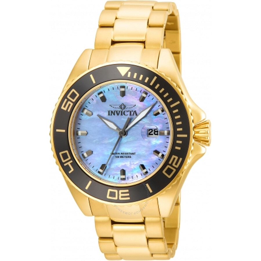 Invicta Pro Diver Mother of Pearl Dial Mens Watch 23071