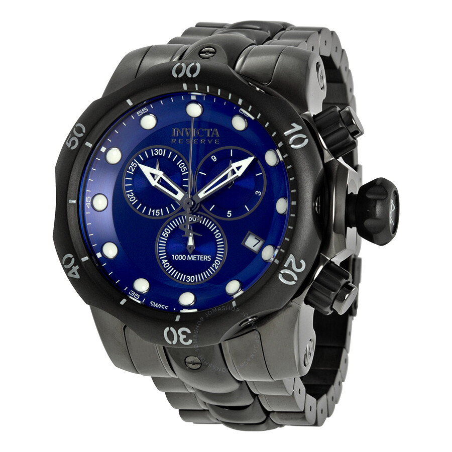 Invicta Reserve Venom Collection Chronograph Blue Dial Black Ion-plated  Men's Watch 5731 ...