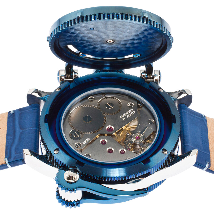 ... Invicta Russian Diver Mechanical Blue Dial Blue Leather Men's Watch  14815 ...