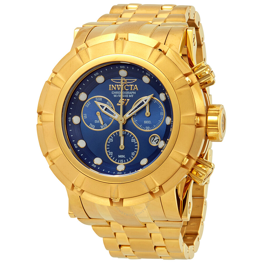 Invicta S1 Rally Chronograph Blue Dial Mens Watch 23955