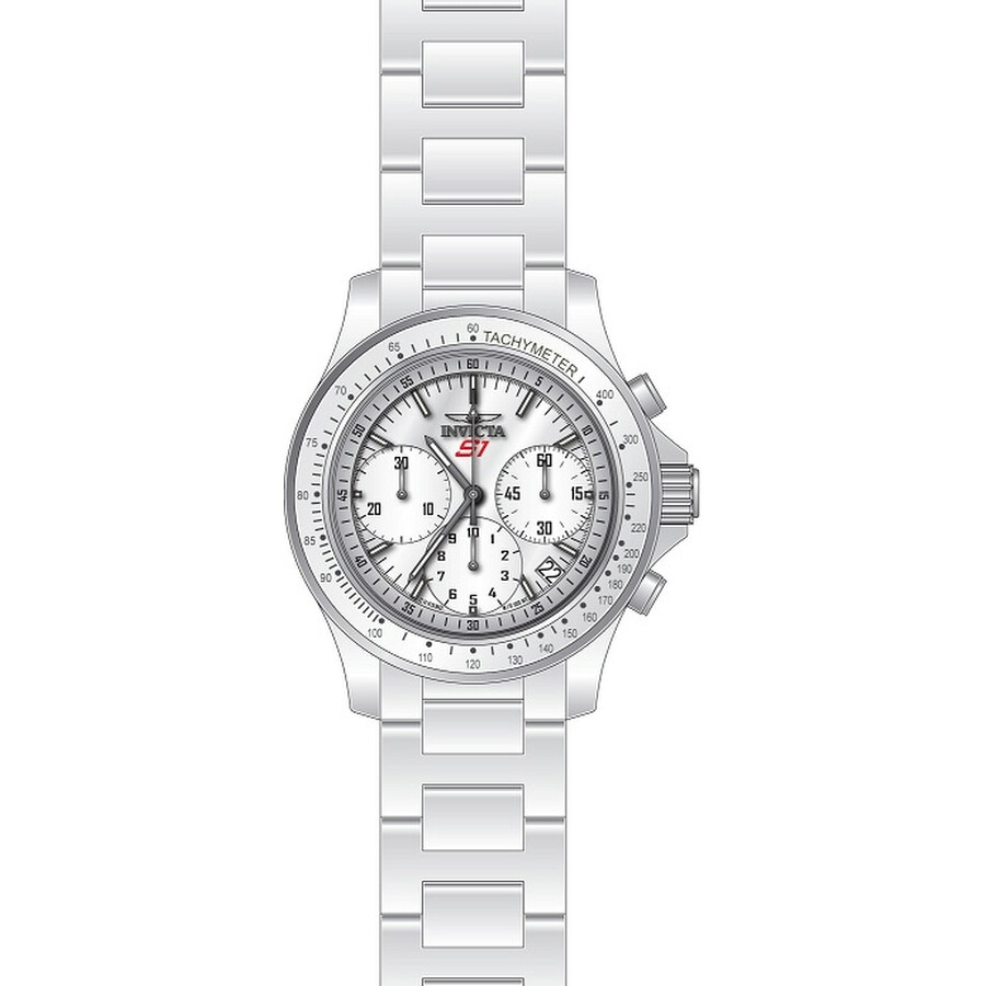 Invicta S1 Rally Chronograph White Enamel Dial Mens Watch 22383