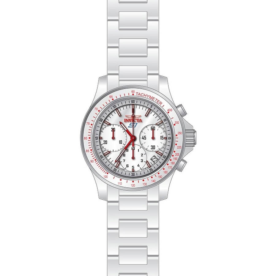 Invicta S1 Rally Chronograph White Enamel Dial Mens Watch 22384