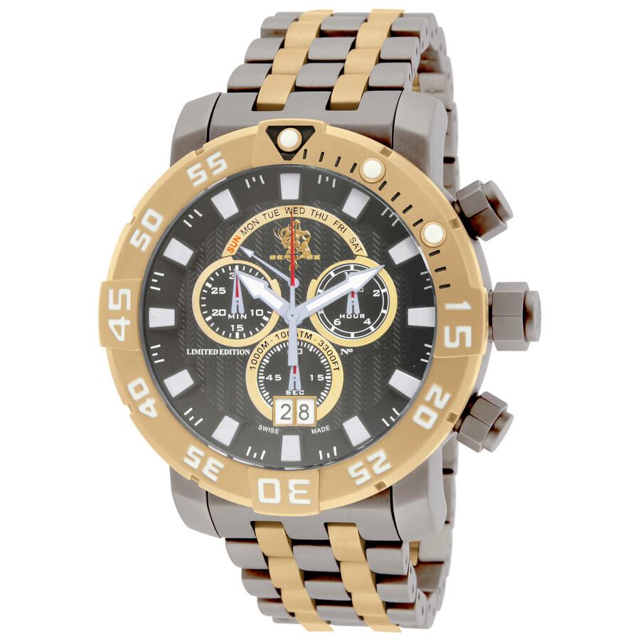 Invicta Sea Base Chronograpg Gunmetal Dial Two-tone Mens Watch 14259
