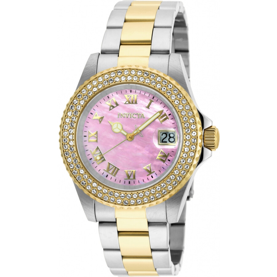 Invicta Sea Base Pink Mother of Pearl Dial Ladies Watch 20367