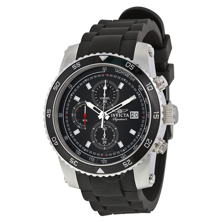 Invicta Signature II Chronograph Black Dial Men's Watch 7452
