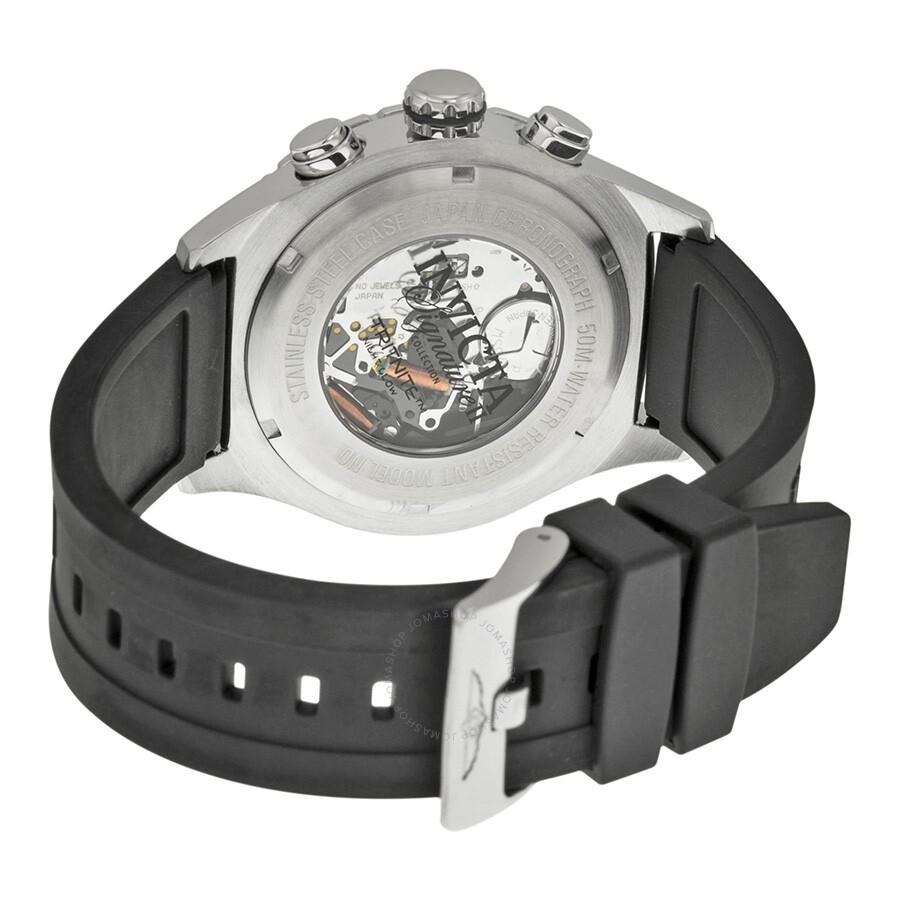 ... Invicta Signature II Chronograph Silver Dial Black Rubber Strap Men's  Watch 7376 ...