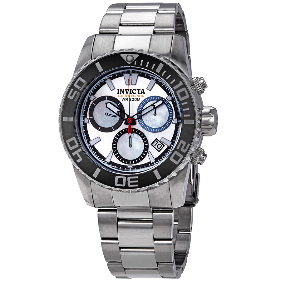 Invicta Silver/Platinum Dial Mens 200 Meters Limited Edition Stainless Steel..