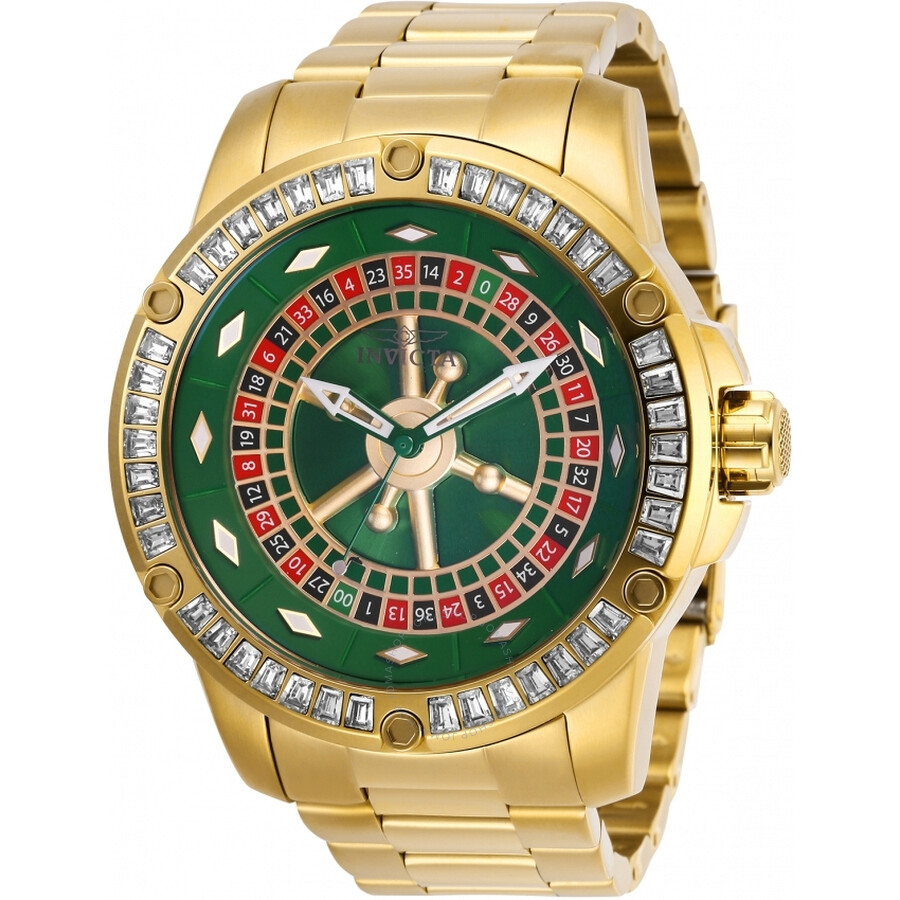 Invicta Specialty Casino Automatic Crystal Green Dial Mens Watch 28713