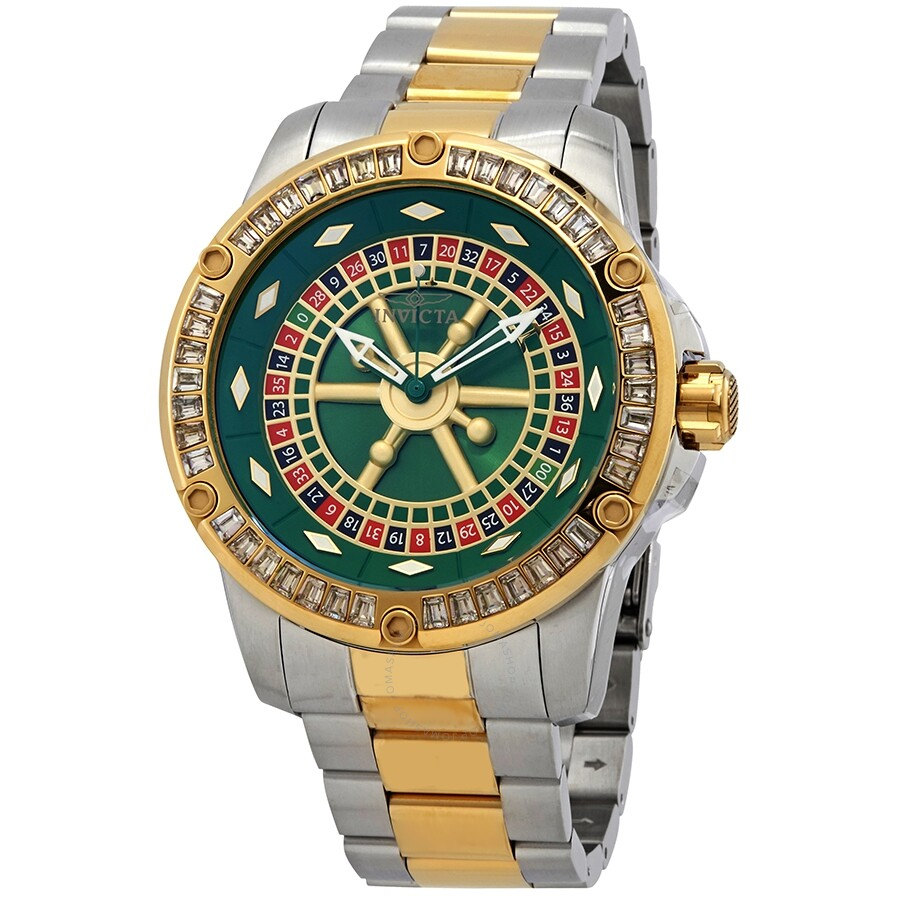 Invicta Specialty Casino Automatic Crystal Green Dial Mens Watch 28716