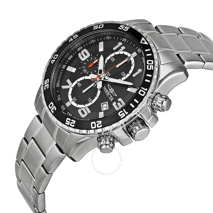 ... Invicta Specialty Chronograph Black Dial Stainless Steel Men's Watch  14875 ...