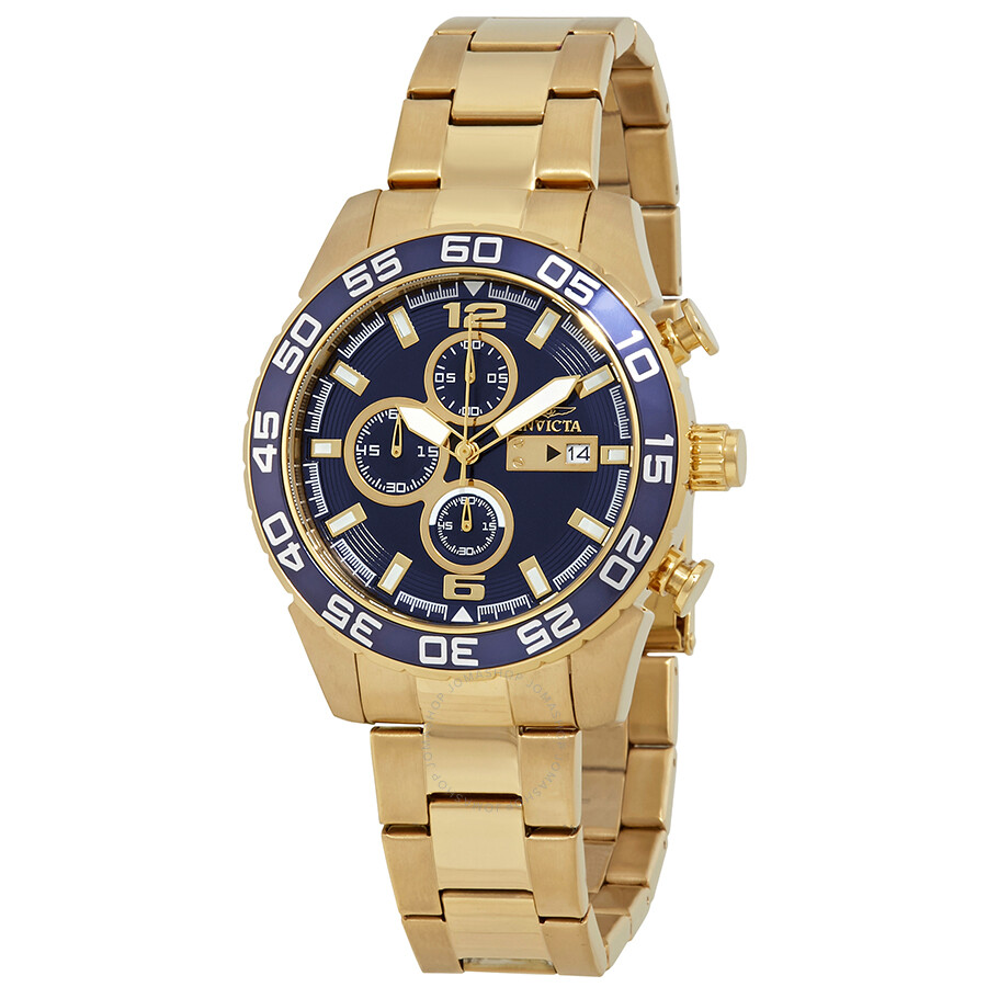 Invicta Specialty Chronograph Blue Dial Mens Watch 1549