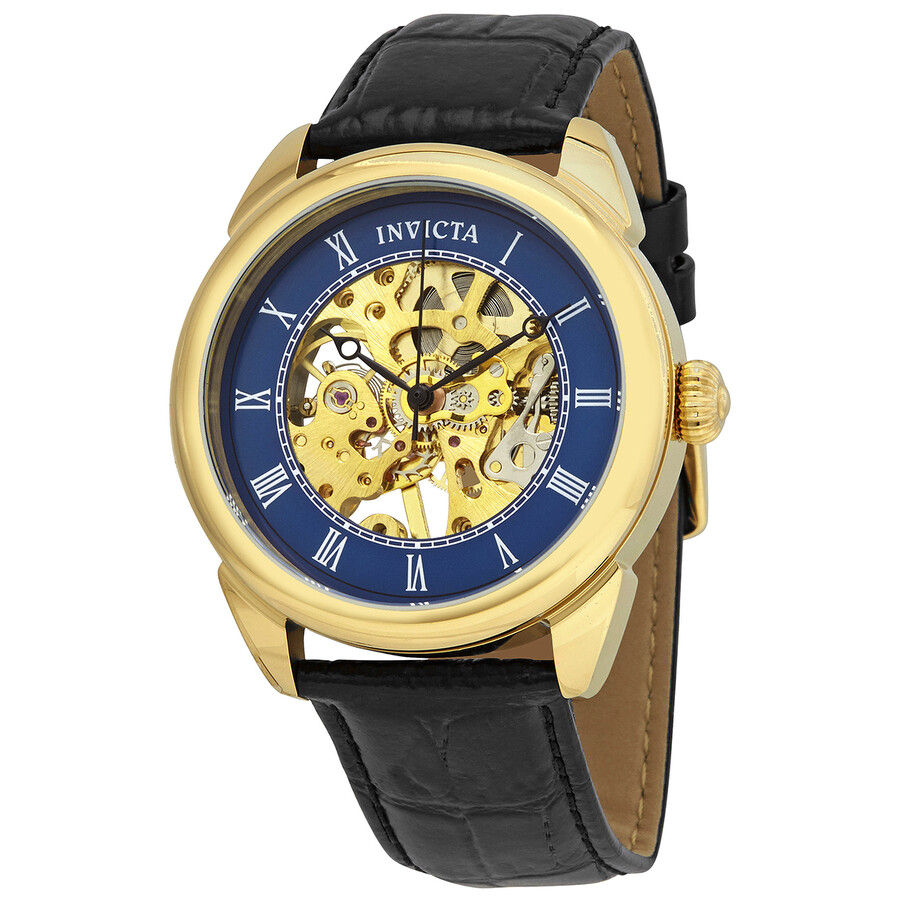 Invicta Specialty Mechanical Blue Skeleton Mens Watch 23536