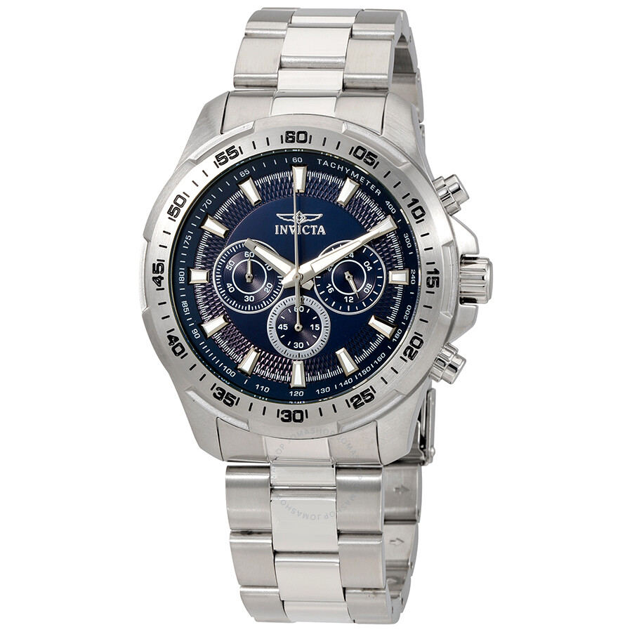 invicta male invicta speedway chronograph blue dial mens watch 22781