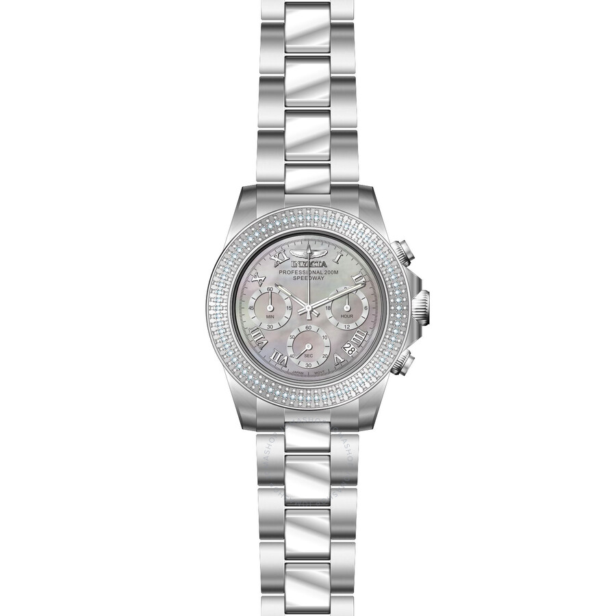 Invicta Speedway Multi-Function Platinum Dial Ladies Watch 21716