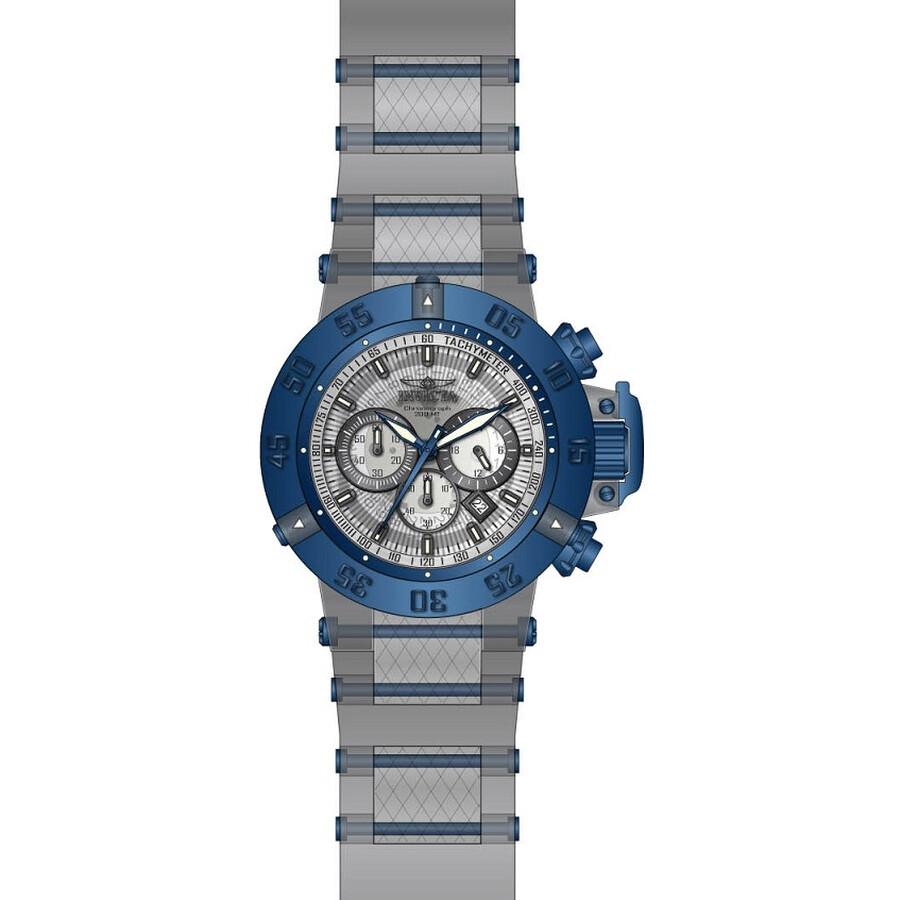 Invicta Subaqua Noma III Chronograph Transparent Dial Mens Watch 24371