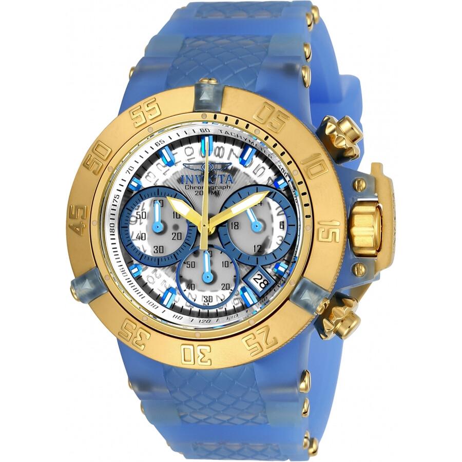 Invicta SubaquaWhite Dial Chronograph Ladies Watch 24377