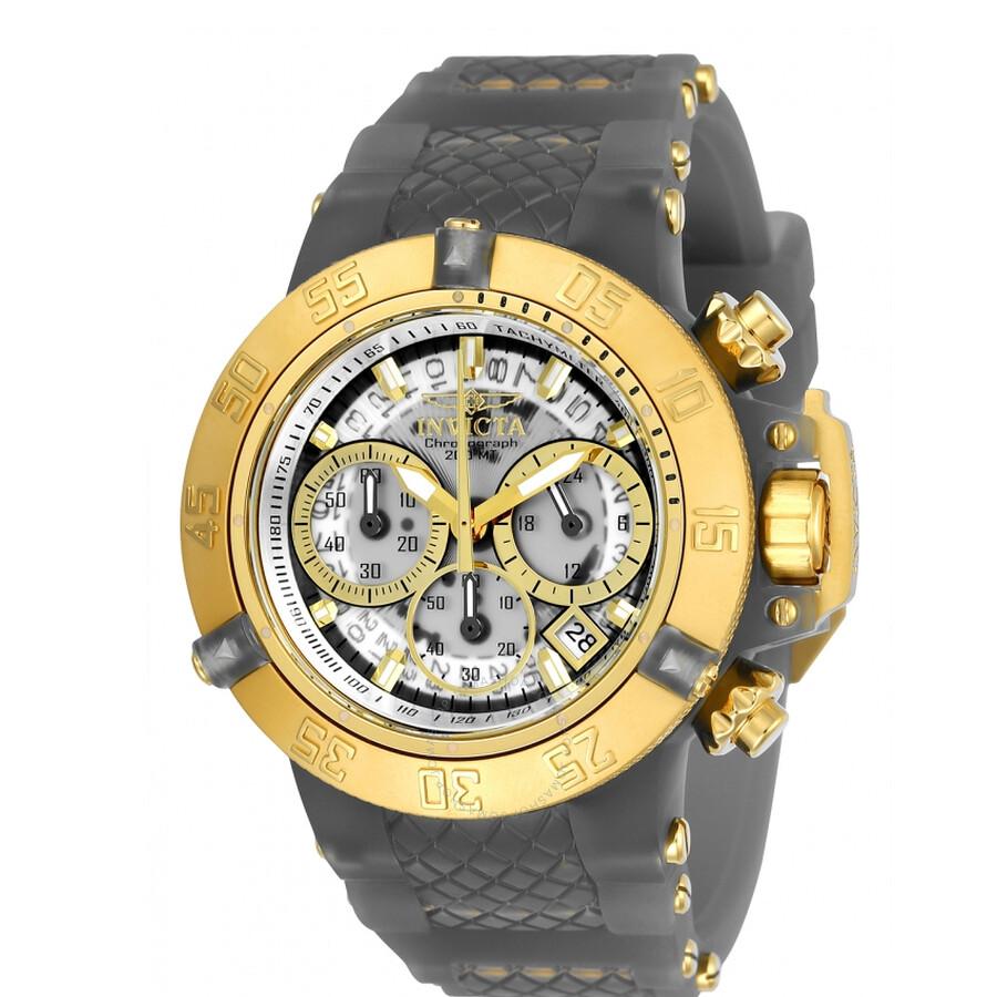 Invicta SubaquaWhite Dial  Chronograph Ladies Watch 24379