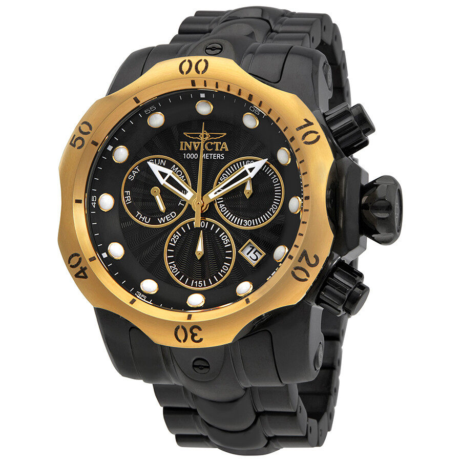 Invicta Venom Chronograph Black Dial Mens Watch 23895