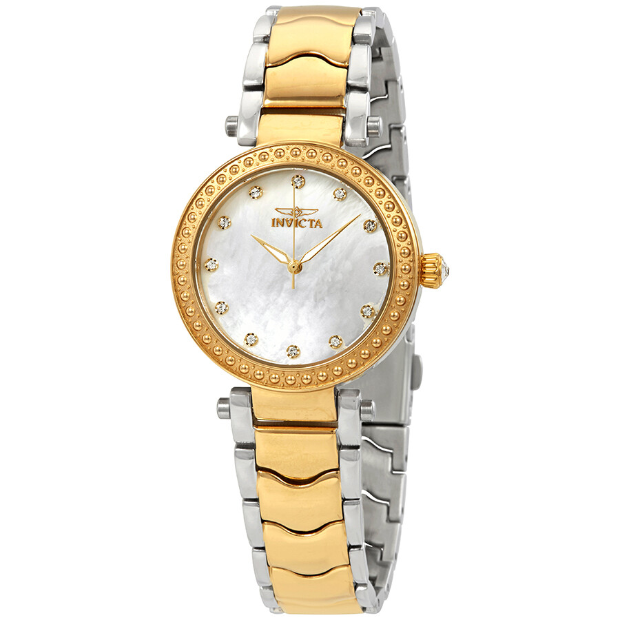 Invicta Wildflower Crystal Mother of Pearl Dial Ladies Watch 23965