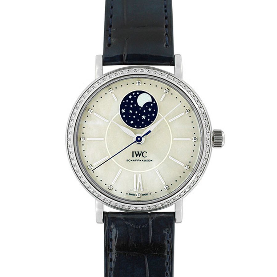 IWC Portofino Mother of Pearl Moonphase Diamond Automatic Unisex Watch 4590-01
