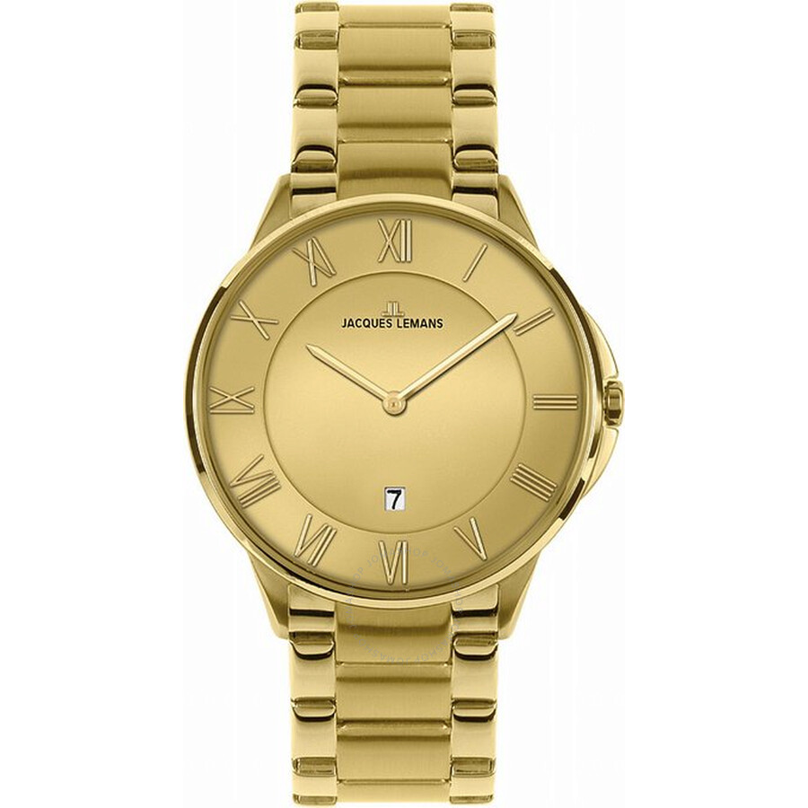 Jacques Lemans Dublin Gold-Tone Stainless Steel Mens Watch 1-1554G
