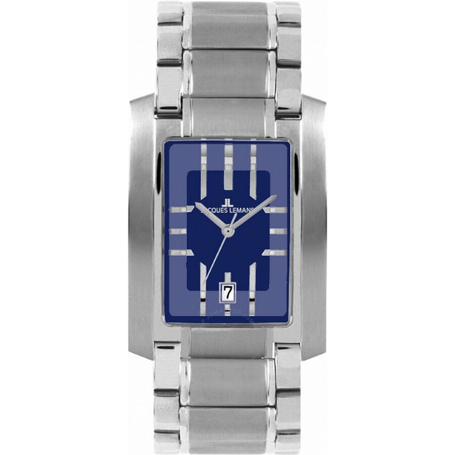 Jacques Lemans Houston Blue Dial Stainless Steel Ladies Watch 1-1113A