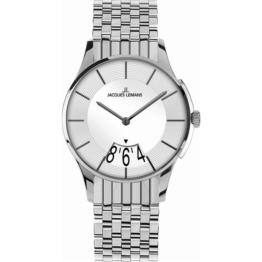 Jacques Lemans London Silver Dial Ladies Stainless Steel Watch 1-1822B