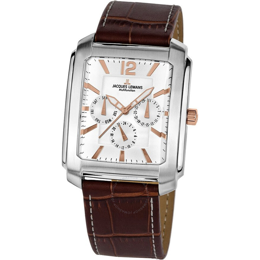 Jacques Lemans Madrid Silver Dial Multi-Function Mens Watch 1-1463W