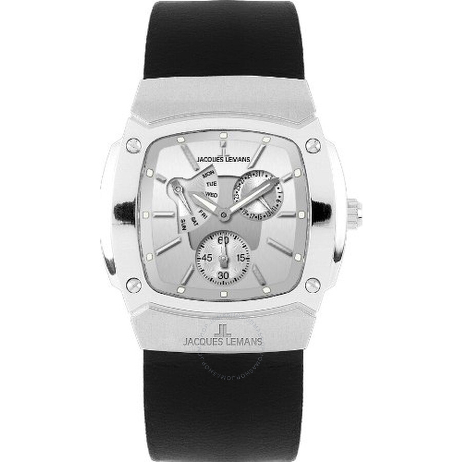 Jacques Lemans Silver Dial Multifunction Mens Watch 1-1476B