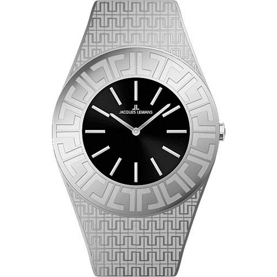Jacques Lemans Vedette Black Dial Stainless Steel Ladies Watch 1-1478A