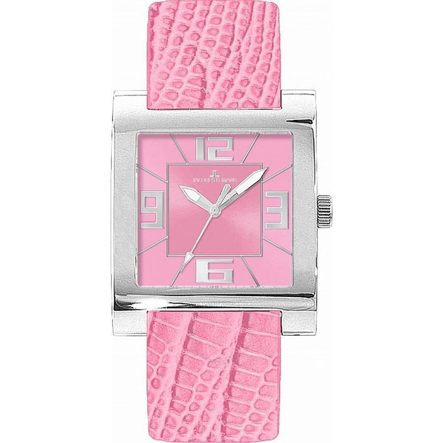 Jacques Lemans Venice Pink Dial Ladies Watch 1-1142I1