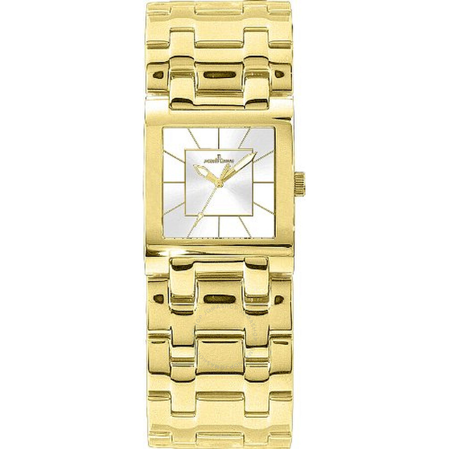 Jacques Lemans Venice Silver Dial Gold Tone Stainless Steel Ladies Watch 1-1197M1