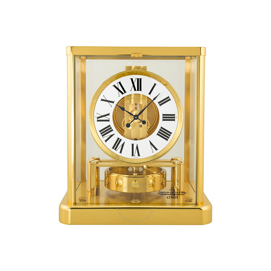 Jaeger Lecoultre Atmos Classique White Dial Yellow Gold Coated Gilt Brass Desk Clock Q5101202