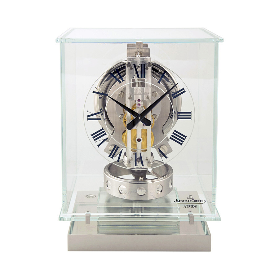 clock atmos watches jaeger crystal lecoultre glass clocks