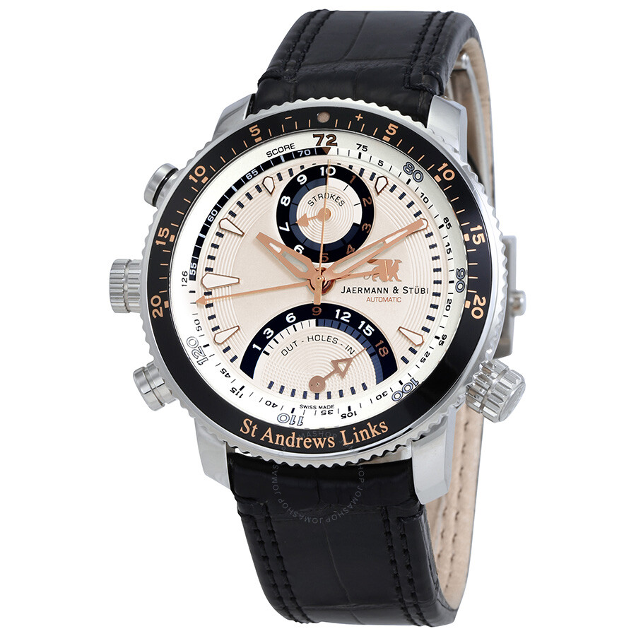 Jaermann Stubi St. Andrews Link White Dial Automatic Mens Watch ST5