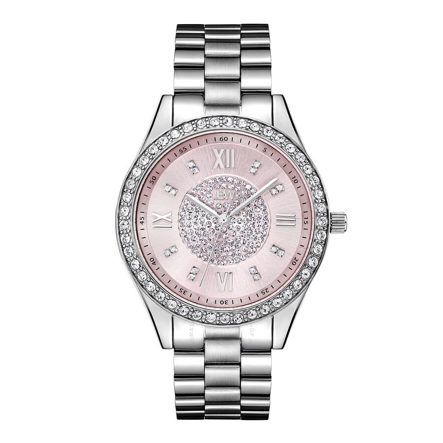 JBW Mondrian Pink Diamond Dial Stainless Steel Ladies Watch J6303F