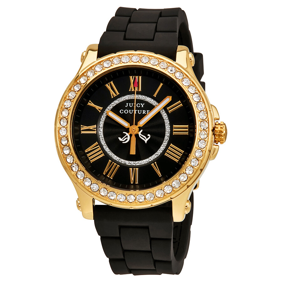 Juicy Couture Pedigree Black Dial Ladies Watch 1901069