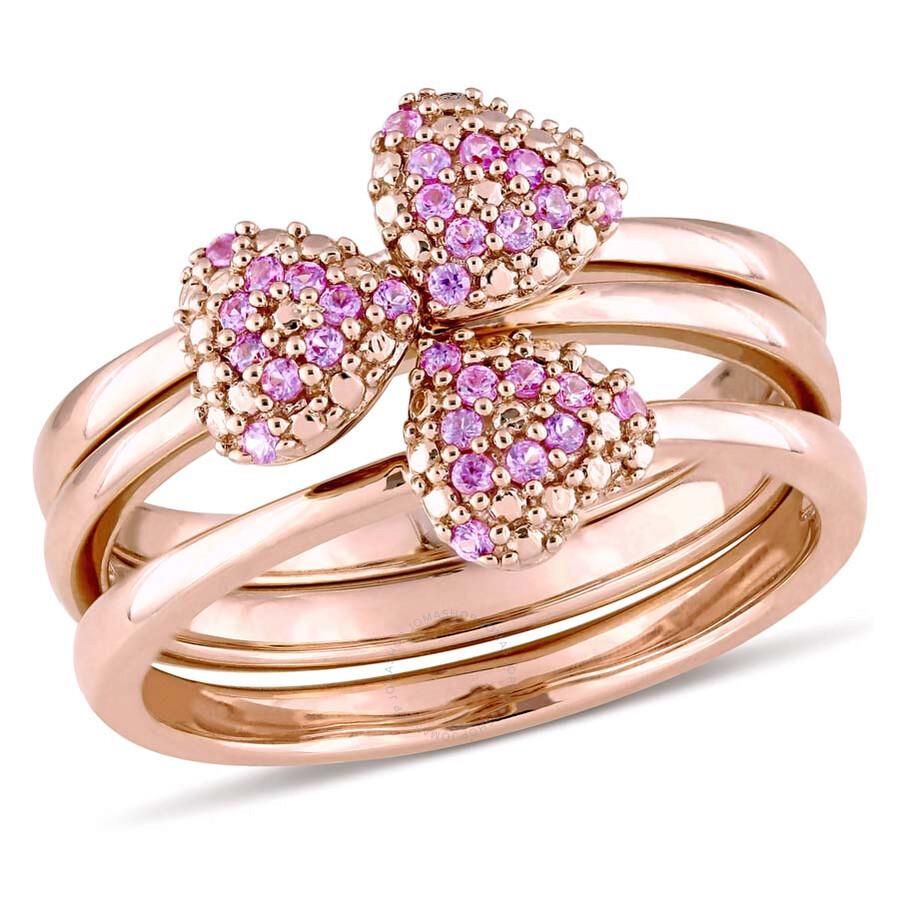 Julianna B 1/3 CT Rose Sapphire 14K Rose Gold Ring - Size 8 ...