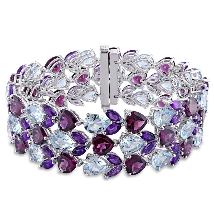 Julianna B Exotica Multi-Stone Sterling Silver Bracelet JMS001961