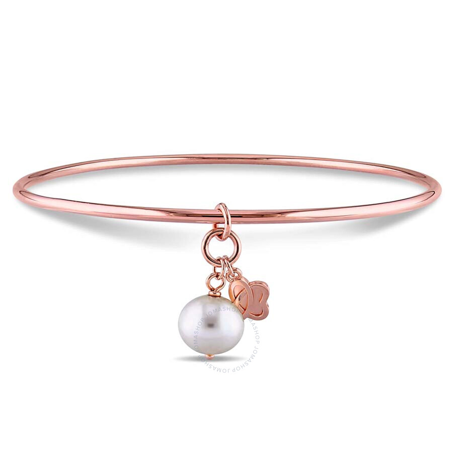 Julianna B Pnina Pink Gold Plated Sterling Silver Pearl Bangle JMS002030