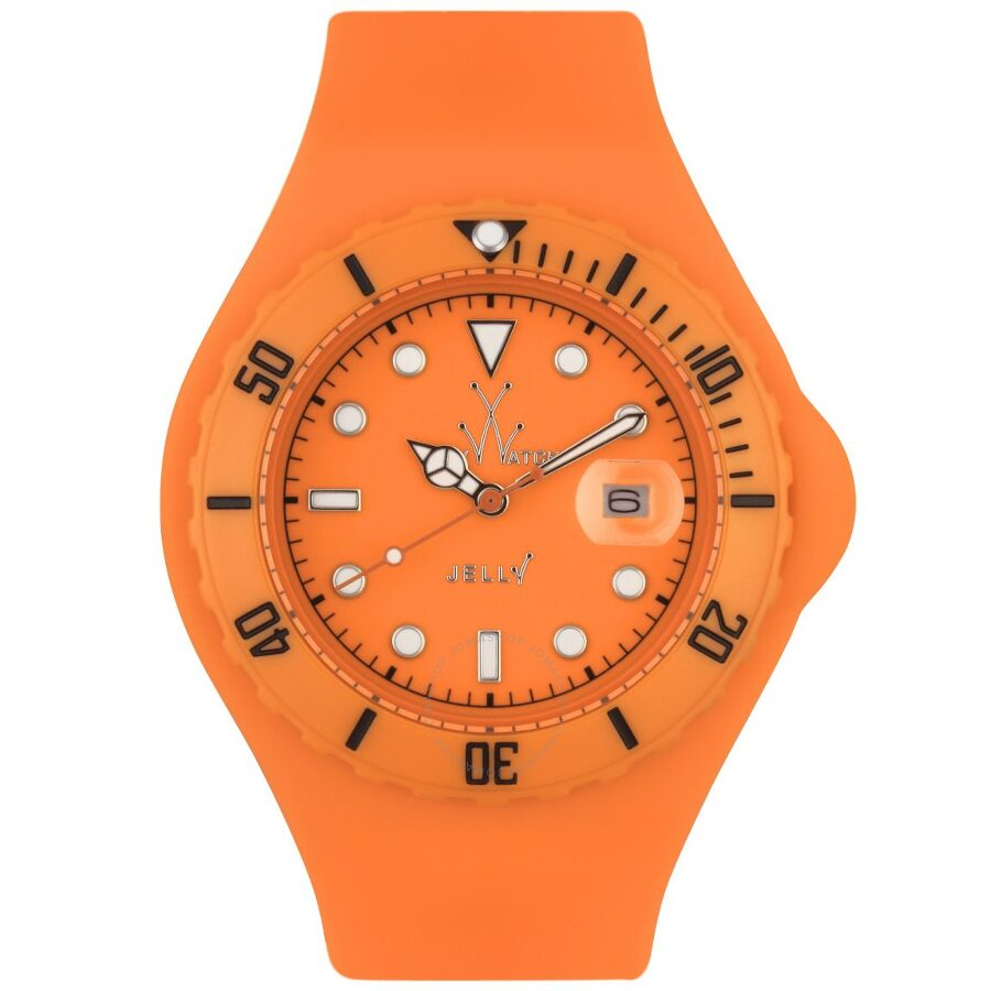 Toy Watch Orange Dial Rubber Strap Unisex Watch JY03OR