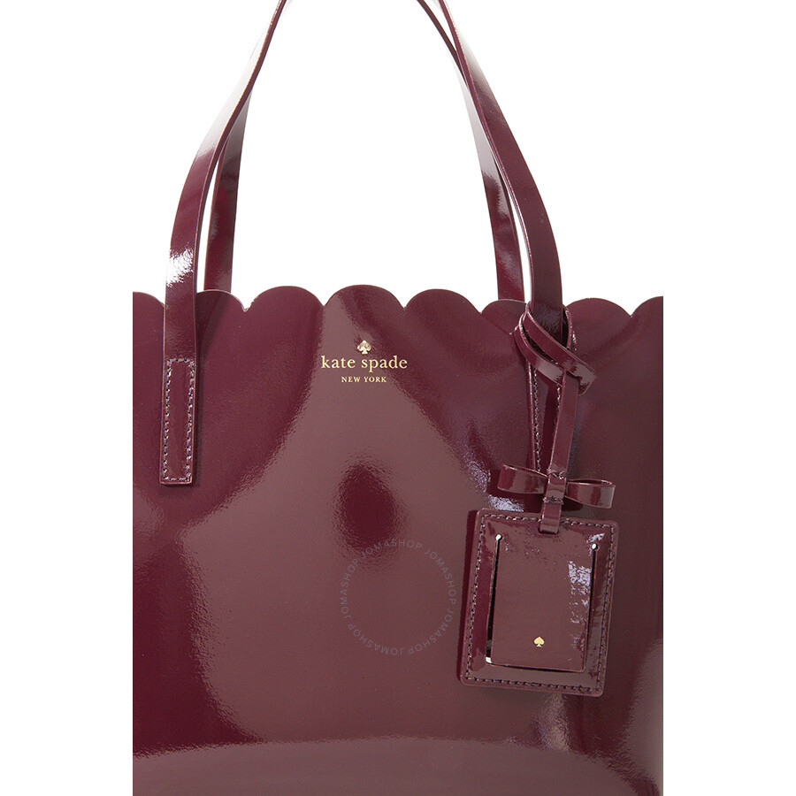 Kate Spade Lily Avenue Carrigan Patent Leather Small Tote Mahogany