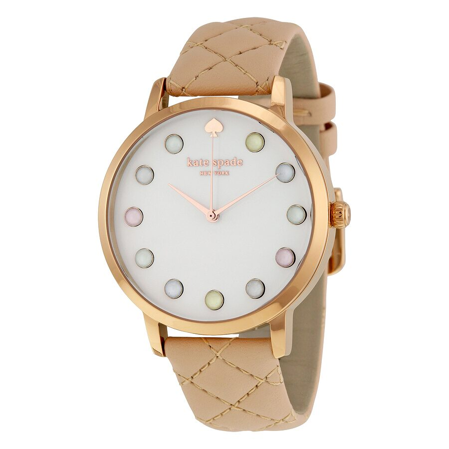 Open Box - Kate Spade Metro White Dial Quartz Ladies Watch KSW1069