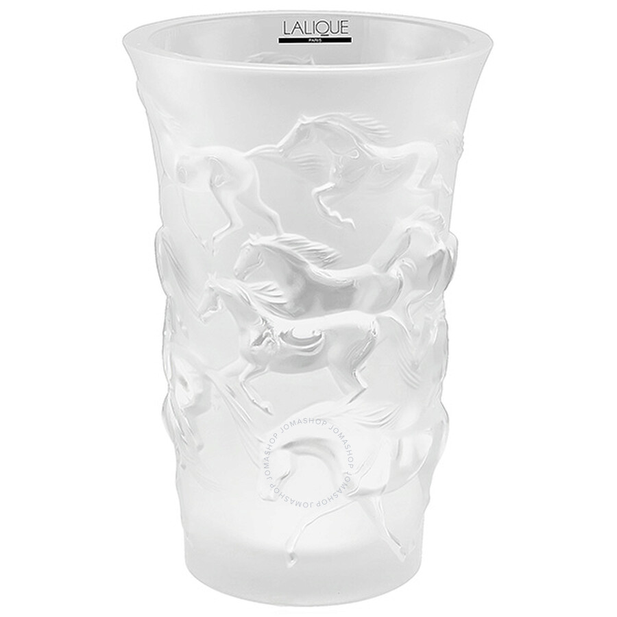 Lalique Crystal Mustang Vase 12575 Lalique Crystals Figurines